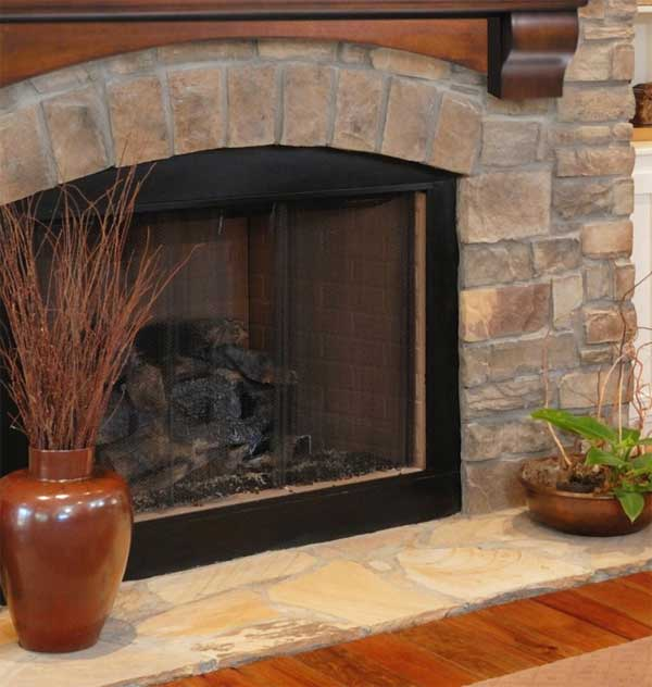 Changing The Grout Color On Fireplace