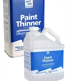 disposing of paint thinners on the house