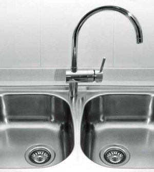 cleaning stainless steel sinks on the house. Black Bedroom Furniture Sets. Home Design Ideas