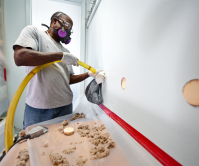 blow-in insulation to walls