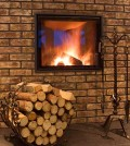 painting your brickface fireplace, Vent-free