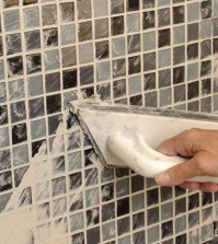 regrouting tiles