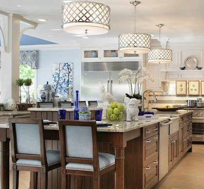 Lamps Plus kitchen island lighting