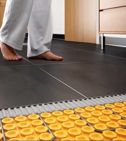 warm tile flooring without damage to tiles