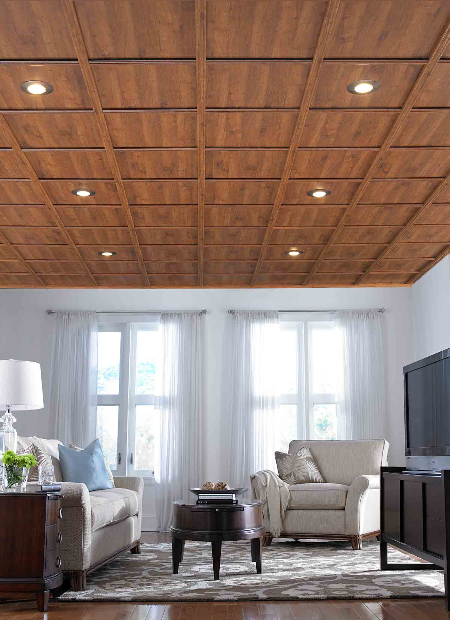 Luxury Wooden Ceiling Designs for Living Room