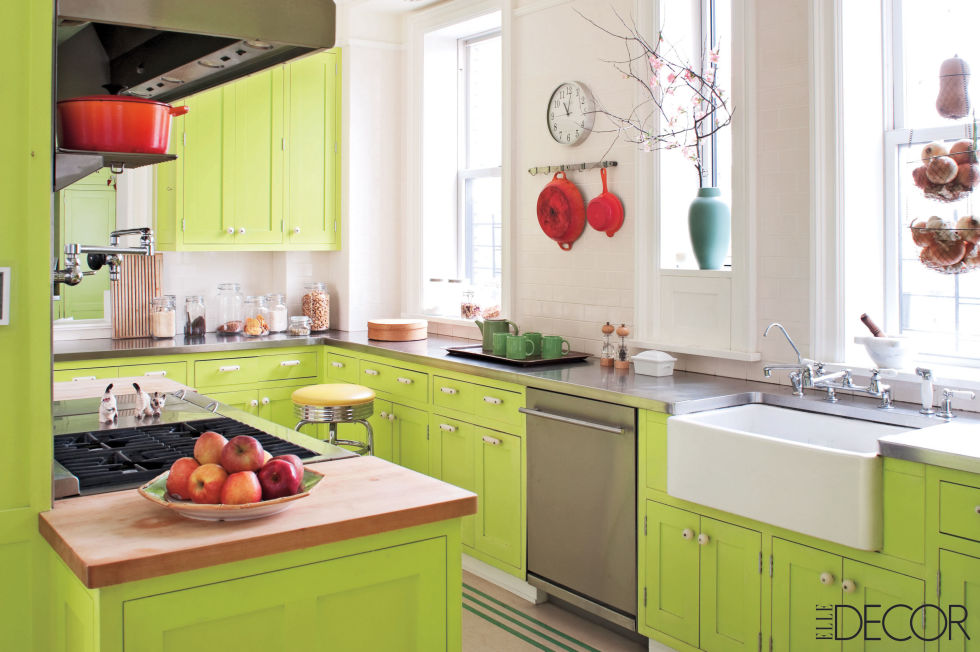 Green Color Kitchen Cabinets Sage