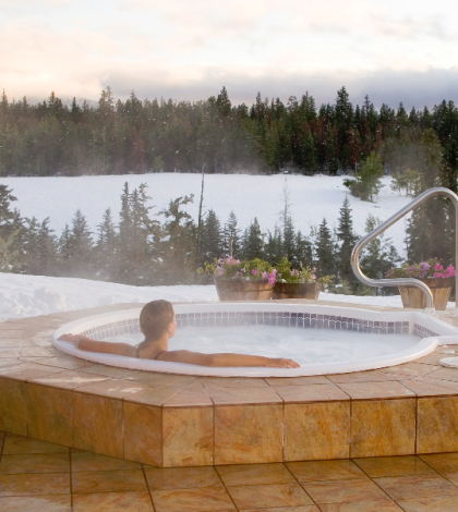 hot tubs in winter