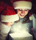 Christmas joy with mother and son