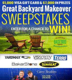 the carey brother 39 s great backyard makeover sweepstakes