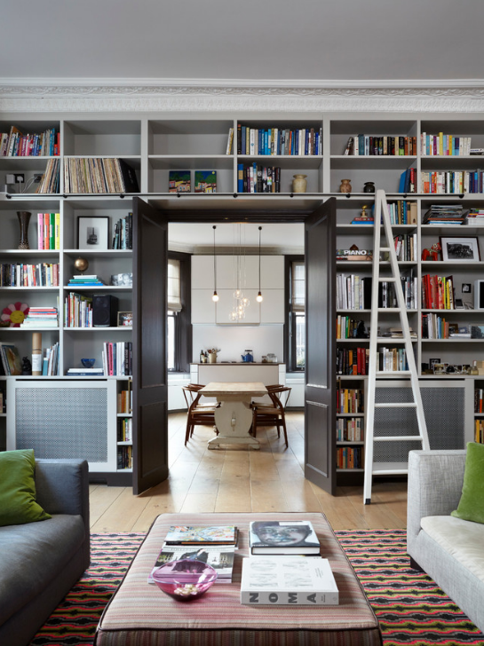 12 clever ideas for living room shelving on the house