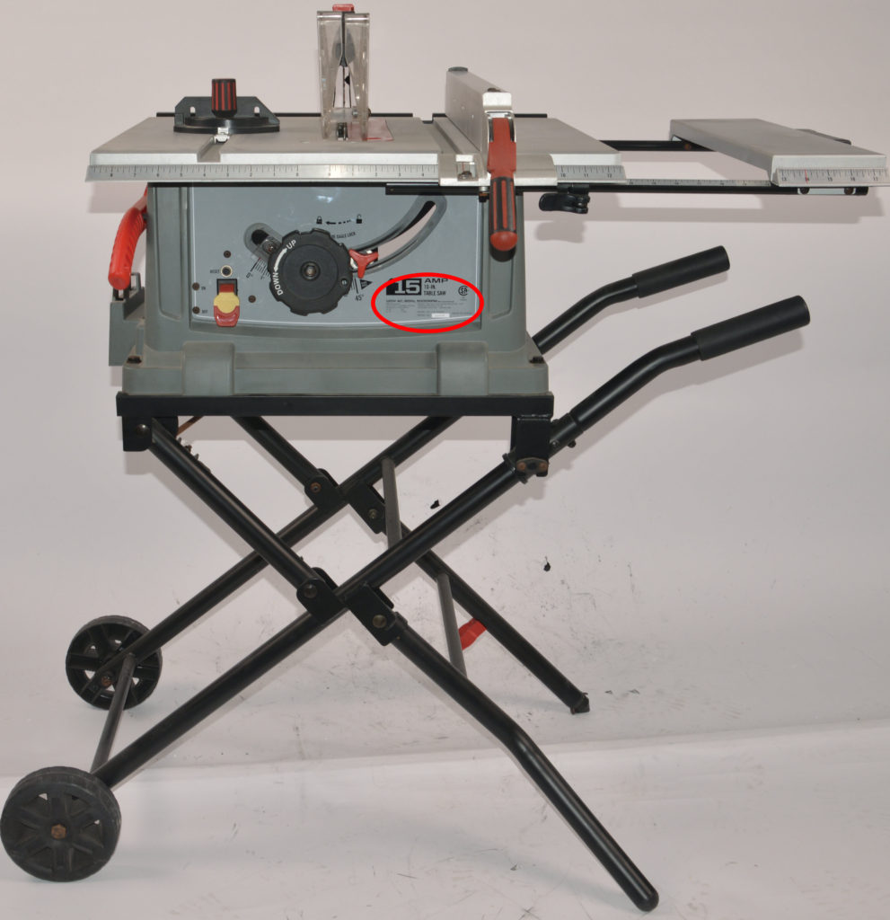 Craftsman Portable Table Saw Recall