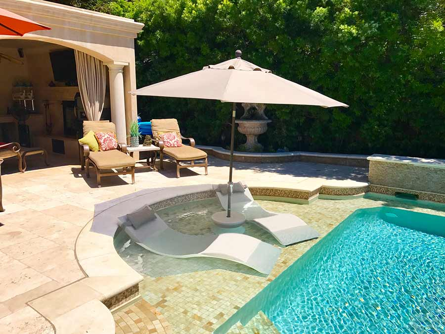 Ledge Lounger | Poolside Paradise