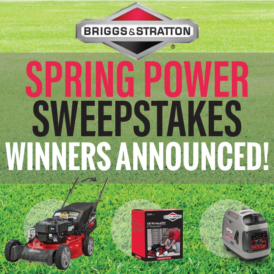 Briggs & Stratton Sweepstakes Winners