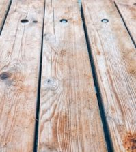 worn wood deck tips